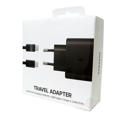 Samsung Fast Charging Travel Adaptor Black EP-TA800XW (Original Blister)