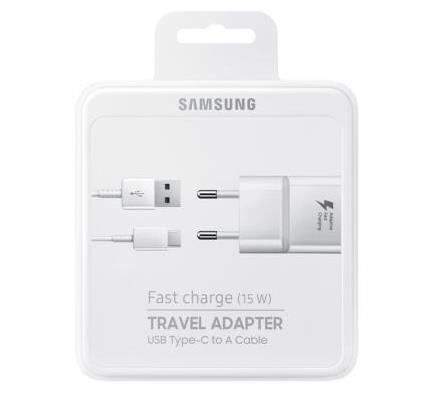 Samsung Fast Charge Pack White (Adapter + Type-C Cable) ( Original Blister)